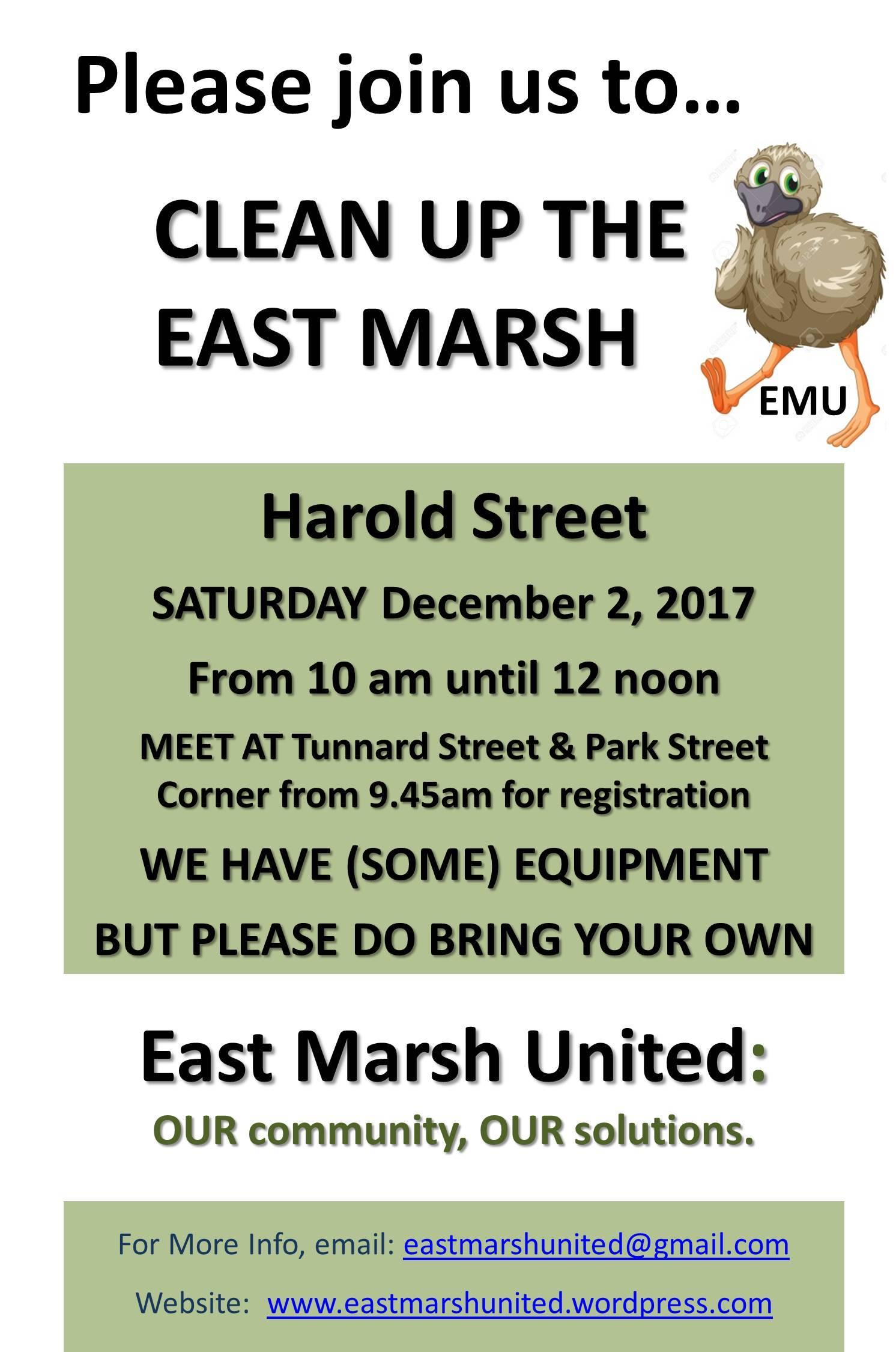 East Marsh United Flyer 2017-11-02 Street Clean - 5 Harold Street