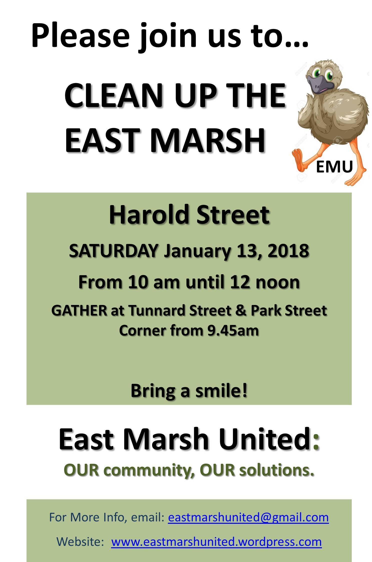East Marsh United Flyer 2018-01-13 Street Clean - Harold Street