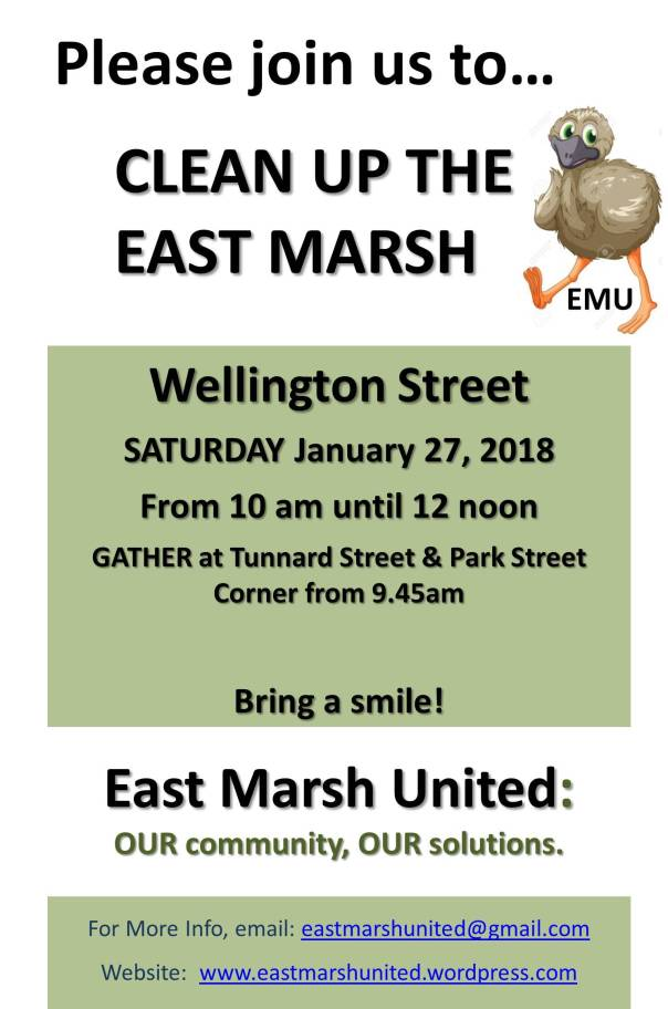East Marsh United Flyer 2018-01-27 Street Clean - Wellington Street jeden