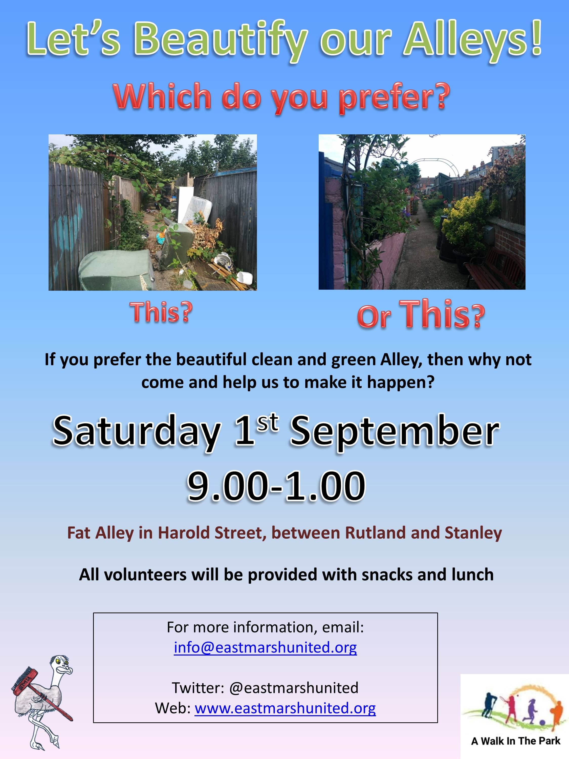 Beautify our Alleys Poster