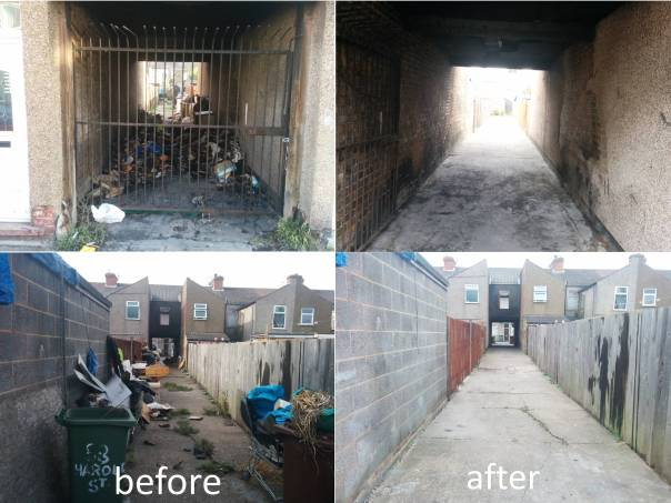 Fat Alley Cleaned - before and after